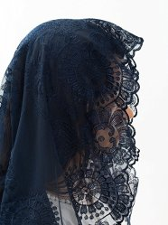 blue chapel veil, blue lace veil, blue mantilla veil, catholic veil, catholic veils for sale, catholic veils meaning, catholic veil colors, catholic veils for mass, catholic veils amazon, wearing veils at mass, infinity chapel veils, catholic head coverings, catholic veiling for mass,