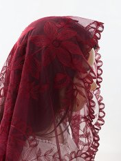 red chapel veil, red mantilla lace veil, catholic veil, catholic veils for sale, catholic veils meaning, catholic veil colors, catholic veils for mass, catholic veils amazon, wearing veils at mass, infinity chapel veils, catholic head coverings, catholic veiling for mass,