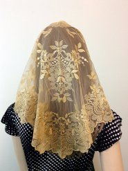 gold chapel veil, gold mantilla veil, catholic veil, catholic veils for sale, catholic veils meaning, catholic veil colors, catholic veils for mass, catholic veils amazon, wearing veils at mass, infinity chapel veils, catholic head coverings, catholic veiling for mass,
