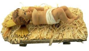 Infant Jesus Christ in Crib 2 Piece Resin Christmas Nativity Statue, 7 Inch catholic advent christmas