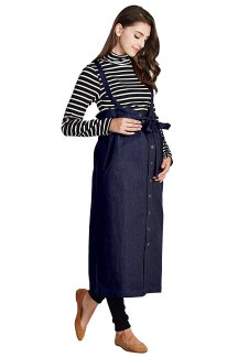Maternity Maxi Jeans Skirt with Suspenders Straps, modest maternity, conservative maternity clothes, cute modest maternity clothes, modest maternity clothes lds, long denim maternity skirts, modest maternity dresses for special occasions, modest maternity clothes, modest maternity clothes online, modest maternity clothes uk, skirts,