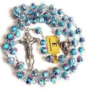 HANDMADE CATHOLIC NICE BULE Veluriyam ROSE BEADS & ITALY CROSS ROSARY necklace GIFT BOX, buy catholic rosary, catholic rosary, catholic holy rosary, catholic rosary beads, catholic rosary beads uk, catholic rosary ring, buy catholic rosary, buy catholic rosary uk, buy catholic rosary beads uk, where can i buy catholic rosary, rosary beads wooden, wooden rosary beads uk, buy rosary online, buy rosary beads uk,