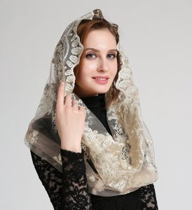 Catholic Veil Chapel Veil Mantilla Church Veil Mass Veil Infinity