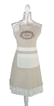 Lillian Rose Tan Mrs. Kitchen Apron Wedding Gift bride, aprons, aprons for women, vintage aprons, vintage aprons uk, vintage aprons amazon, vintage aprons online, vintage aprons for sale,