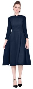 Marycrafts Womens Elegant Classy Office Business Long Tea Midi Dress, modest, modesty, lds, catholic, christian,